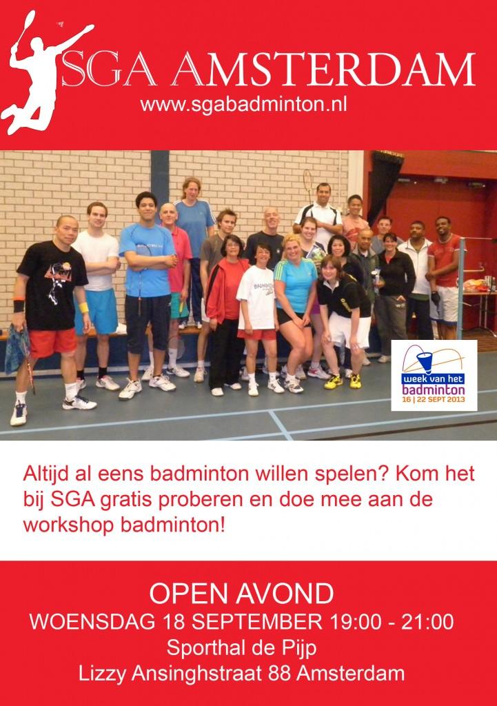 SGA open avond flyer